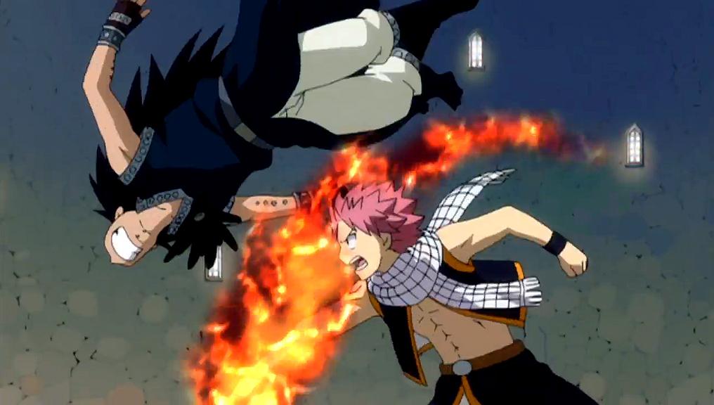 Natsu vs Gajeel (DragonSlayers) - YouTube