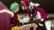 Erza threatens Mulan Rogue