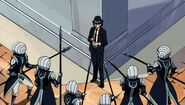 Edo-Gajeel confronted by guards