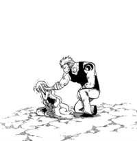 Laxus encourages Mavis