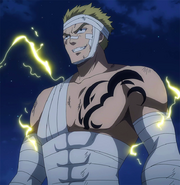 Laxus stands against Zirconis