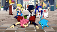 Team Natsu arrives at Crocus