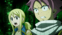Natsu and Lucy meet Future Lucy