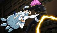 Yukino kicks Eclipse Virgo