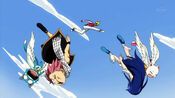 Racer hits down Cats, Natsu and Wendy