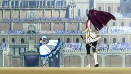 Kagura faces against Yukino