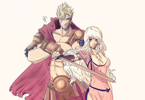 Age of Gladiators - Mira and Laxus
