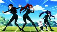 Erza's Group Wearing Leotard