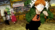Loke runs away when he realised that Lucy is Celestial Spirit Mage