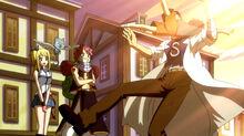 Natsu, Lucy, and Happy bring Macao to Romeo.jpg