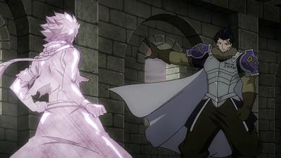 Silver instantly freezes Natsu