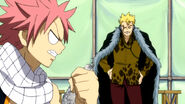 Natsu wanting to fight Laxus