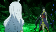 Kamika appears at Mirajane's location