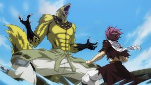 Natsu vs. Etherious Jackal