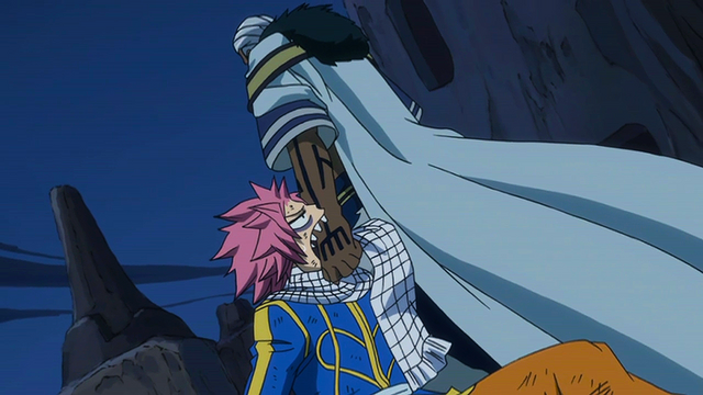 File:Natsu bites Brain as he drags him.png