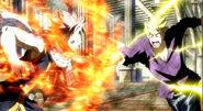 Natsu and Laxus clash