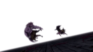 Torafuzar and Tempester pushed by Natsu and Gajeel