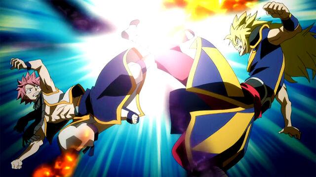 File:Natsu clashes with Zancrow.jpg