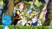 Natsu and Happy fishing