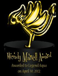 Wendy Marvell Award 1
