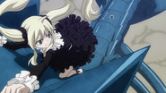 Mavis and Zera climb the Blue Skull Dragon