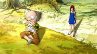 Erza talks with Makarov about Laxus