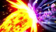 Erigor blocks Natsu's attack