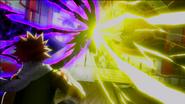 Natsu watching Hades and Laxus clash