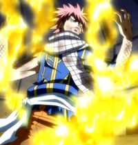 Natsu after he ate golden flame