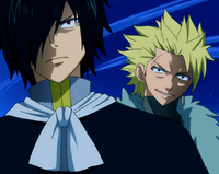 Rogue and Sting taunt Natsu