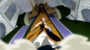 Aria attacks Natsu