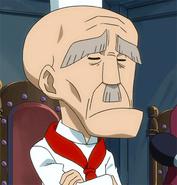 Yajima watches Natsu and Gajeel's power