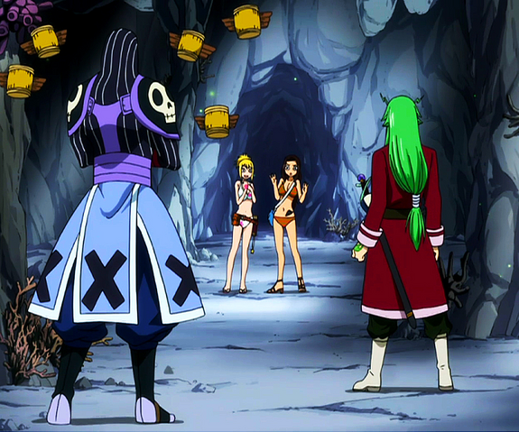File:Freed and Bickslow vs. Lucy and Cana.png