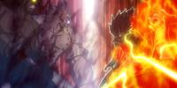 Natsu Dragneel & Gajeel Redfox vs. Tempester & Torafuzar