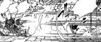 Natsu Throwing the Guard At The Guards