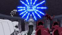 Erza attacking GMG monsters