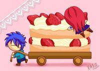 Cake in a cart