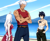 Gray, Mira, and Elfman discussing