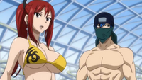 Jellal and Erza Look for the Commotion