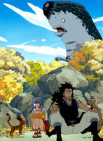 Gajeel and Levy hiding