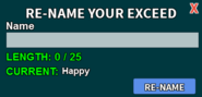 Exceed Rename Interface