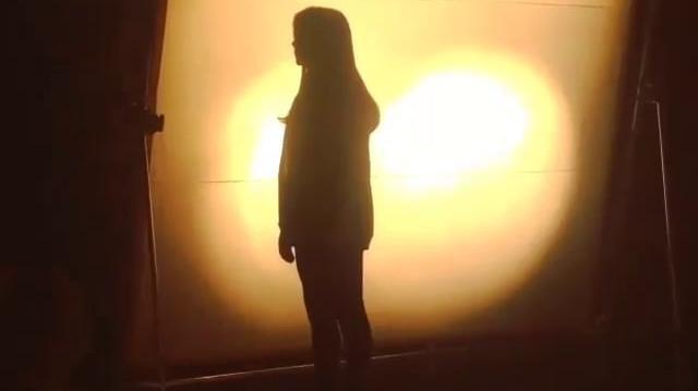 Addison Timlin during Fallen movie set