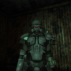Front view of C-01 Power Armor