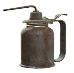 Used oil can