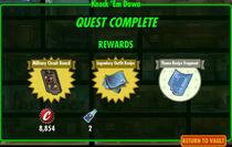 FoS Knock 'Em Down rewards