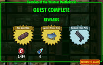 FoS Guardian of the Wastes Deathclaws! rewards
