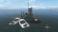 FO4 Spectacle Island (Sunken Supertanker)