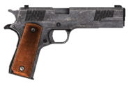 .45 Auto pistol with the HD slide modification, including cut content