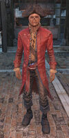 John Hancock red frock coat