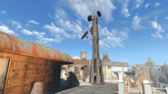 FO4 Cambridge Police station rooftop 2